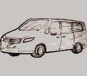 Mercedes Vito класс туристического оператора Paristraveltransfer